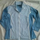Bobbie Brooks Sport Ladies Sweatshirt Shirt Size XL Blue Zip down Cotton NEW 18W
