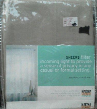 Sheer Martha Stewart Viole Panel One only Beige Filter Incoming Light 59 x 84 NE