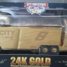 Nascar 24K 8 Circuit City Racing Transporter Stock Car 1:64 Semi Hauler Gold New
