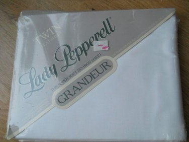 Vintage Lady Pepperell Super Soft GRANDEUR Twin Flat Sheet Made USA No Iron NEW