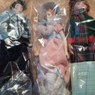 Set of 3 Avon Porcelain Dolls Victorian Southern Belle Skating Party American