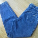 Vintage Ladies Chic Jeans Dark Size 10 Reg Blue Pleated Front Rivet 5 pocket EUC