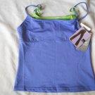 Mossimo Ladies Sz L Tank Shirt Top BeDri Wicking Technology Mock 2 Pc Blue Green