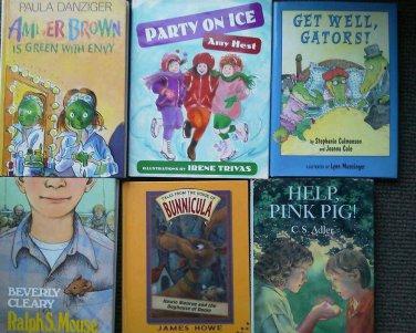 Set 7 kids Reading books Children Chapter Ralph S Mouse Amber Brown Paddinton LN