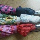 Set of 3 Ladies Floral Geo Pattern Nylon Umbrella Button Opener Straps to Carry