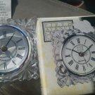 Fifth Avenue Starburst Crystal Clock Quartz Movement Desk Kitchen shelf 3 in NEW