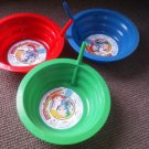 Set of 3 Sip A Bowl Built in Straw Kids  22 oz Made in USA Dishwasher Safe NEW