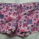 Aeropostale Floral Shorts Size 5/6 Flower Mini Red Pink Purple Micro Cotton NEW