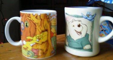 Set of 2 Disney Winnie the pooh mugs Rabbits House Smackerel of honey Tigger Lot