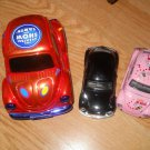 Set of 5 Volkwagen Beetle 1967 replica Metal pull back Cars Circus I Love My Bee