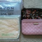 Set of 4 Makeup Avon Beauty Clutch Travel Bags Purse Zipper Bath Body Works NEW