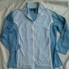 Bobbie Brooks Sport Ladies Sweatshirt Shirt Size 2X Blue Zip down Cotton NEW 20W