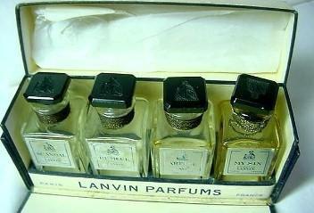Lanvin Perfumes Vintage Mini Set of 4  in Original Box