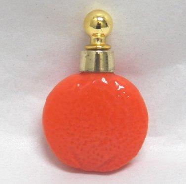 Vintage Figural Orange Mini Perfume Bottle Germany