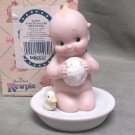 Enesco Kewpie Taking a Bath with Duck