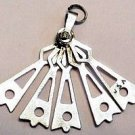 Vintage Sterling Silver Charm of a Movable Hand Fan