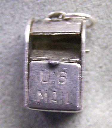 Sterling Silver Charm US Mail Box Movable