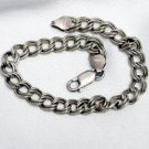 Sterling Silver Double Loop Charm Bracelet