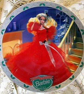 1988 Happy Holidays Barbie Christmas Plate