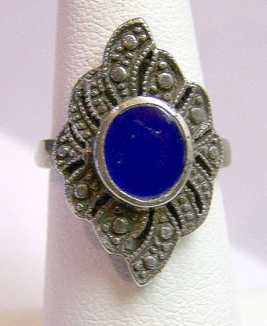 Vintage Sterling Silver and Lapis Ring