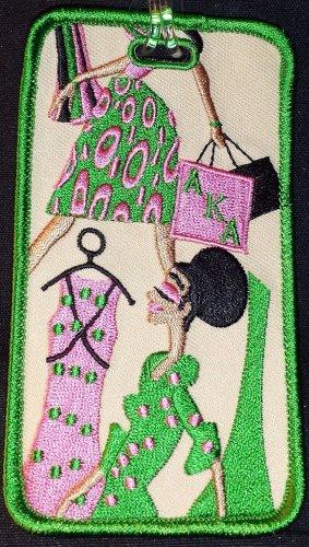 Alpha Kappa Alpha Sorority Diva Embroidered Luggage Tag
