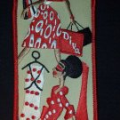 Red/White Diva Sorority Diva Embroidered Luggage Tag