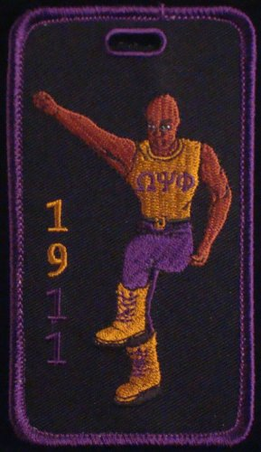 Omega Psi Phi Fraternity Stepper Embroidered Luggage Tag