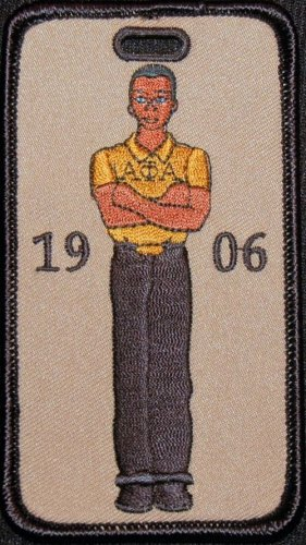 Alpha Phi Alpha Fraternity Stepper Embroidered Luggage Tag