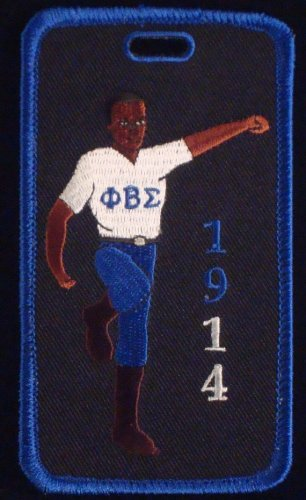 Phi Beta Sigma Fraternity Stepper Embroidered Luggage Tag