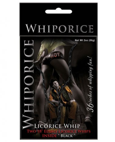 "18"" Edible Candy Licorice Whip Whiporice 2Pk Black Licorice Submisive Dominatrix"