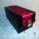Devine Toy Box Hot Pink Corset Adult Toy Storage Box Keepsake w Heart Lock