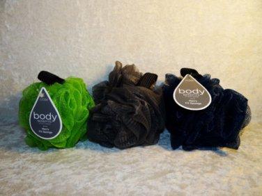 Men's Fit Bath Shower Body Sponge Soft Net Hang Strap Rich Lather Body Benefits