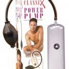 Classix Penis Power Pump Male Enlarger Enlargment Length Girth Suction Vacuum