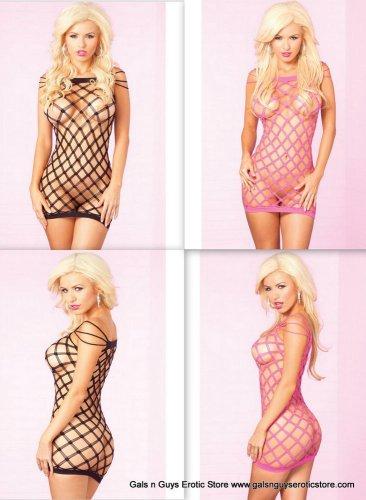 Black or Pink Triple Threat Seamless Mini Dress Diamond Cut Fits 4-12 90-165lbs
