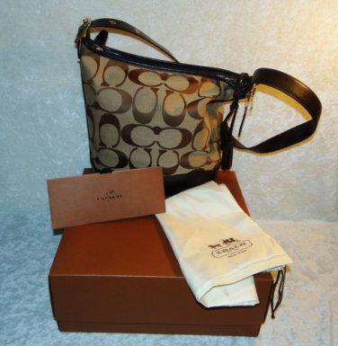 Coach Purse Legacy Signature Duffle CrossBody Hobo Shoulder Bag  #21149