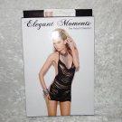 Elegant Moments Lingerie Dance Black Fringe Mini Dress One Size 90-165lbs