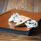 Leather Cord Holder-handmade,Earbud Cable Organizer,Earphone,Headphone,Minimalist#Nude
