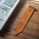Leather Bookmark - Handmade Hand stitched Book Mark, Minimalist, Minimal, Personalized, Custom#Brown