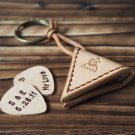 Handmade Leather Guitar Pick Holder Guitar Accessories Personalized gifts for men #Natural Nude