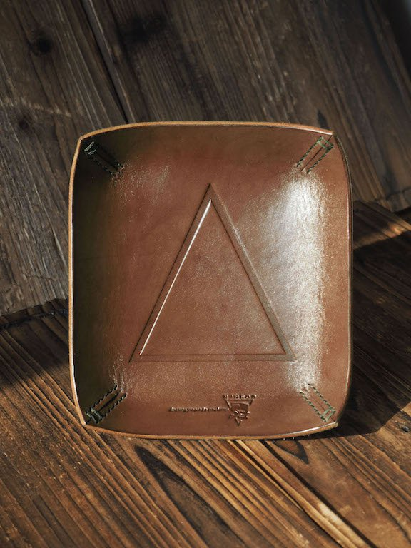 Handmade Leather Valet Tray Letter tray Desk tray Vanity tray Personalized gifts #Brown