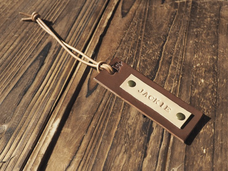 Handmade Leather Luggage tags Travel Accessories Personalized gifts Name tags Key tags #Brown