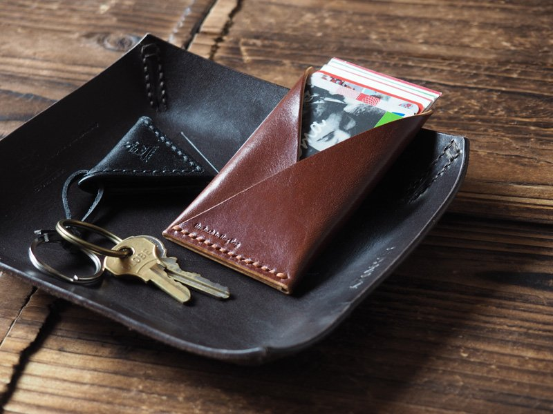 Handmade Leather Credit card holder Card wallet Slim wallet Business ...