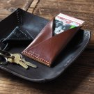 Handmade Leather Credit card holder Card wallet Slim wallet Business card case mens wallets #Brown
