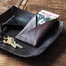 Handmade Leather Credit card holder Card wallet Slim wallet Business card case mens #Dark Brown