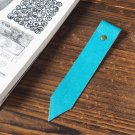 Leather Bookmark - Handmade Hand stitched Book Mark, Minimalist, Personalized, Custom#Sky Blue