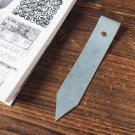 Leather Bookmark - Handmade Hand stitched Book Mark, Minimalist, Personalized, Custom#Blue Grey