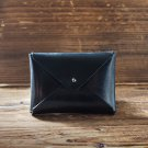 Handmade Leather Business card holder Credit card holder Slim Card wallet coin purse #Black