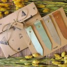 Natural Plain Leather Bookmark Gift Set - Handmade Hand stitched Book Mark, Minimal