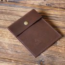 Leather Pouch - Minimalist Wallet handmade, Card holder, card wallet #Brown