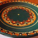 Ceramic green pattern plate - 1980
